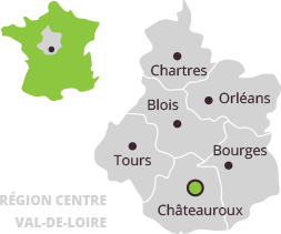 Accès Châteauroux